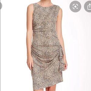Betsey Johnson asymmetrical leopard  midi dress 12
